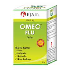 BJain Omeo Flu Tablets for Fever,Influenza, Body ache, Nose Blockage